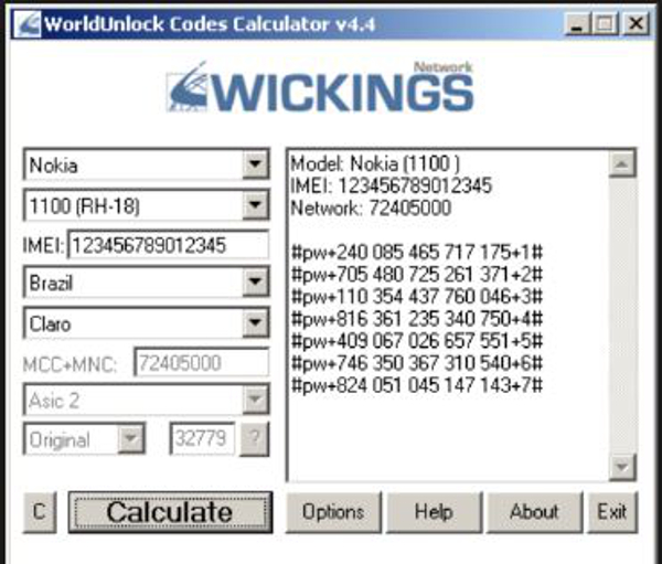 alcatel nck code calculator download
