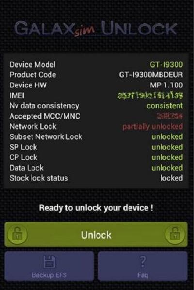 galaxsim unlock phone