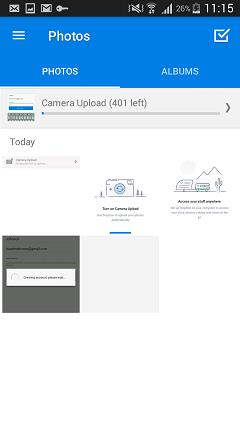 dropbox backup android photos