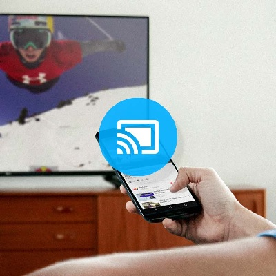 استخدام البث chromecast لعكس شاشة الاى باد