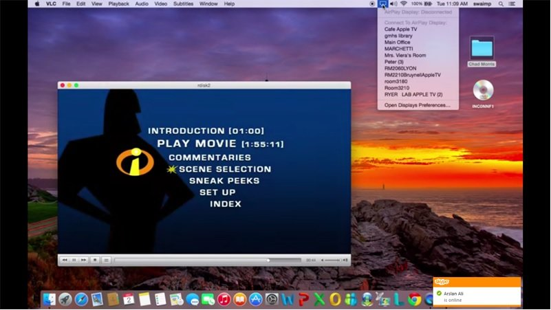 vlc airplay naar apple tv