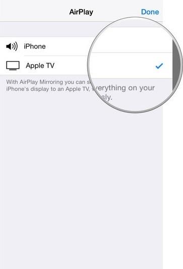 spiegel iphone ipad scherm op apple tv