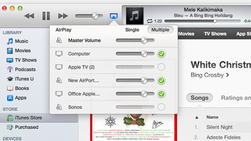 stream music and videos via itunes