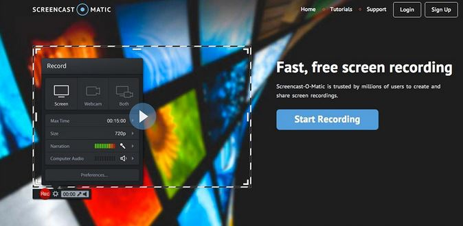 Online-Screenrecorder - Screencast-O-Matic