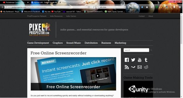 Online Screen Recorder - PixelProspector Screen Recorder