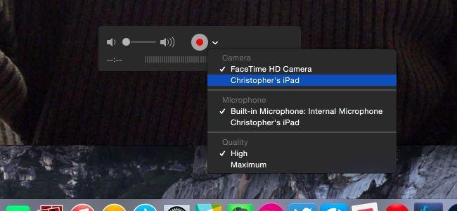 De beste Screen Recorder voor iPad - Quicktime
