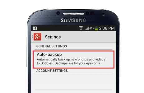 google auto backup