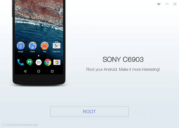 root sony xperia z1 with kingoapp