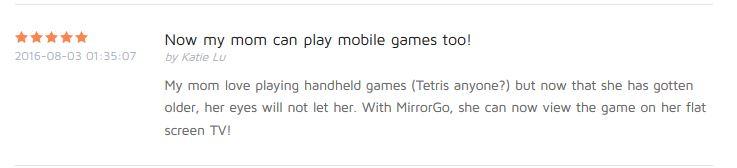 MirrorGo Benutzerwertung