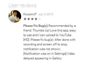 rec screen recorder user review
