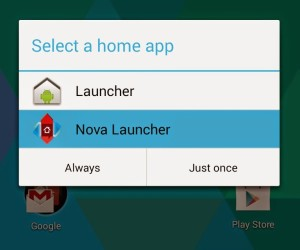 hide apps with nova launcher prime