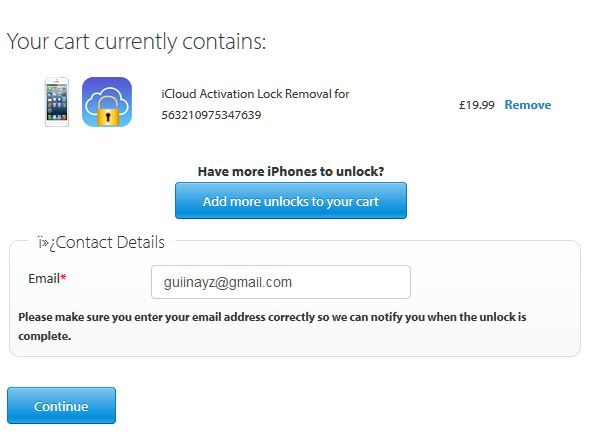 Unlock iPhone iCloud Activation Lock finished