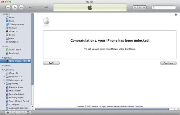 unlock iPhone 5s finished