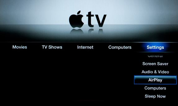 Enable AirPlay on Apple TV