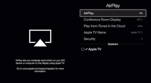 Enable AirPlay to fix AirPlay not showing