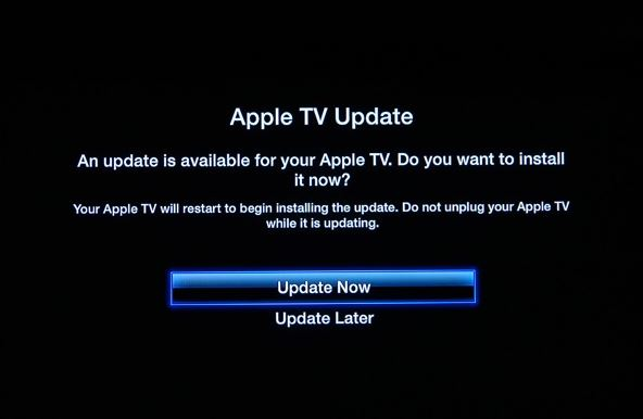 Actualizar Apple TV