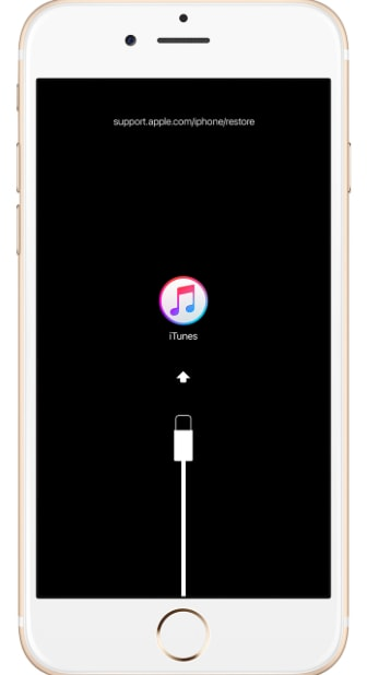 Restaurar el iPhone a través de iTunes