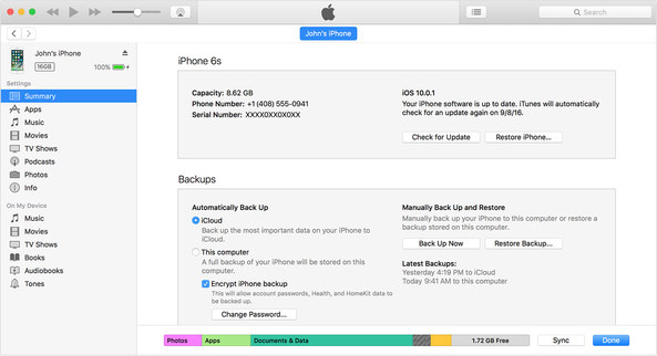 itunes error 50-Restore iPhone via iTunes