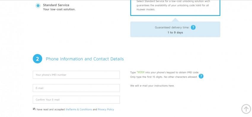 unlock y300 with sim unlock service