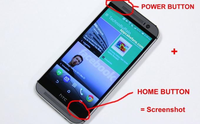 Como fazer screenshot no HTC