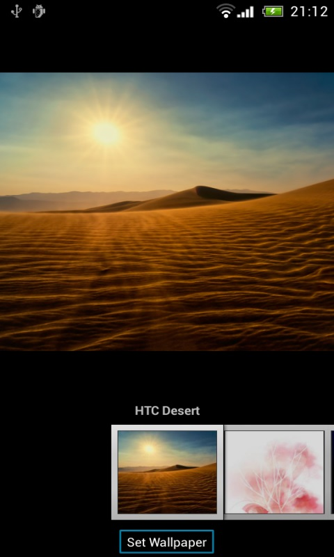 change wallpapers on htc