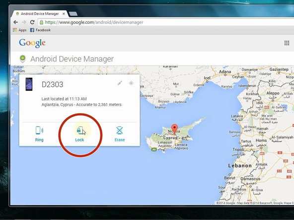 android device manager remove htc screen lock