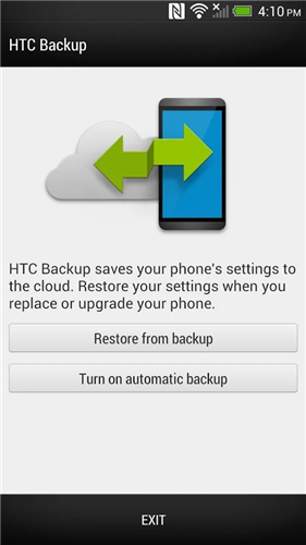 how to use htc backup