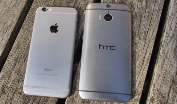 htc m8 vs iphone 6 design