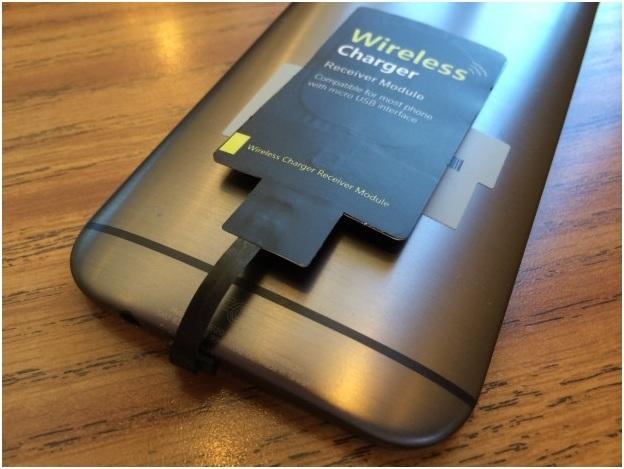 add wireless charging to htc m8