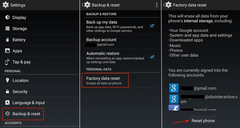 3 Methods to Hard/Factory Reset LG Phone