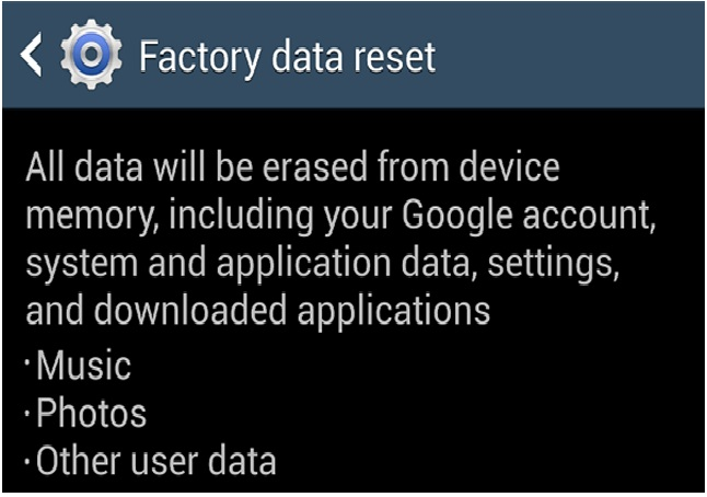 factory reset s4 from settings