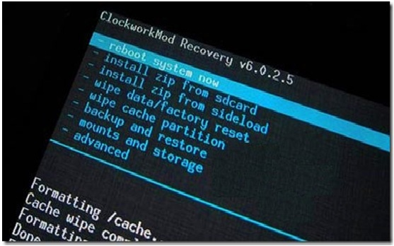 factory reset s4 from recovery mode