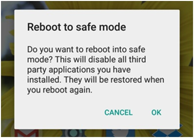 restart android phone in safe mode-enter safe mode