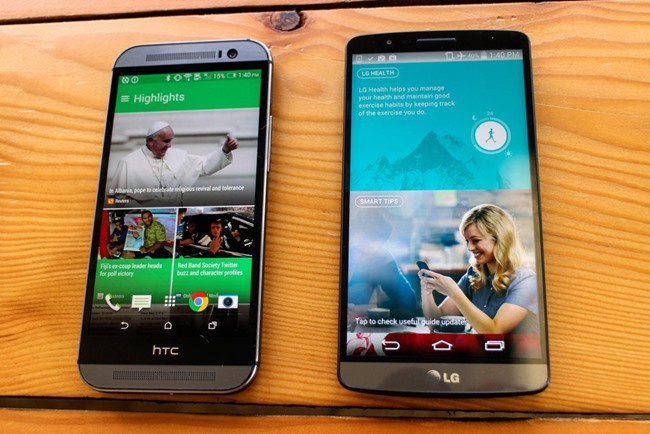 htc m8 vs lg g3 camera