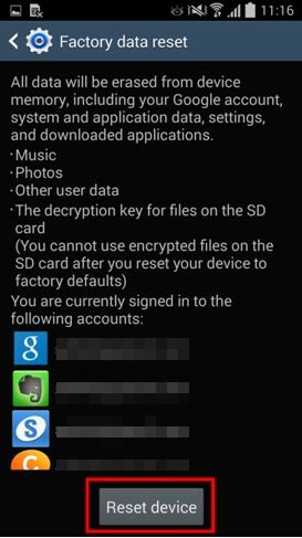 factory reset samsung s3 from settings