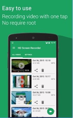 game screen recorder no root hd