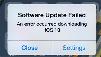 iOS 10 Update Problems - Software Update Failed