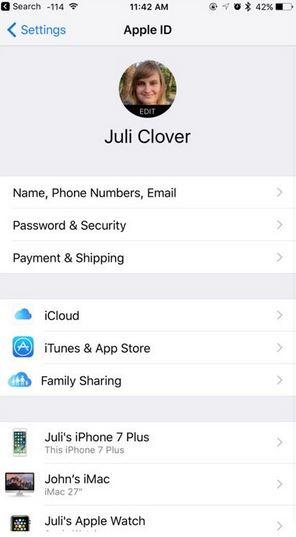 ios 10.3 More Advanced Apple ID Settings
