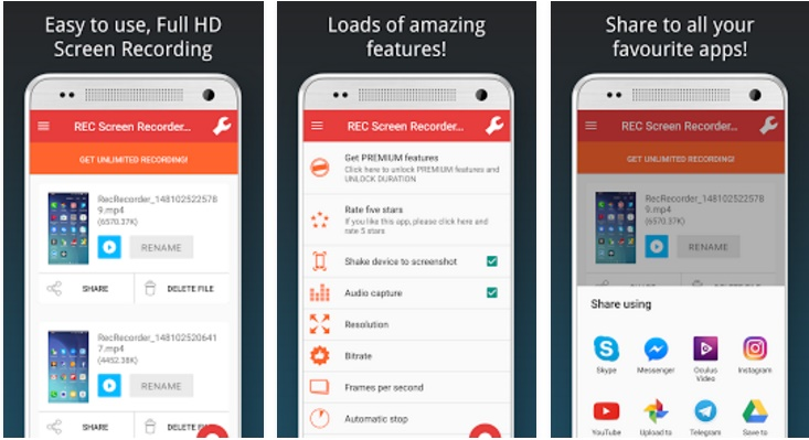 download az screen recorder pro full apk