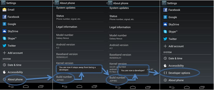 root samsung n7000 - enable usb debugging