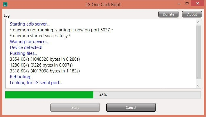 lg one click root - start root
