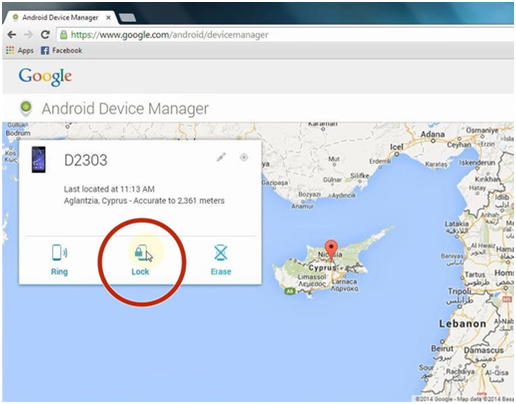 reset locked lg phone - android device manager options