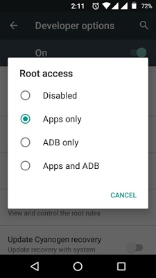 disable root access