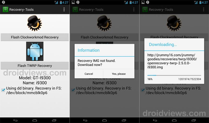 root gt n7000 - download cwm recovery