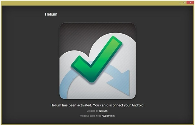 backup samsung s4 - activate helium