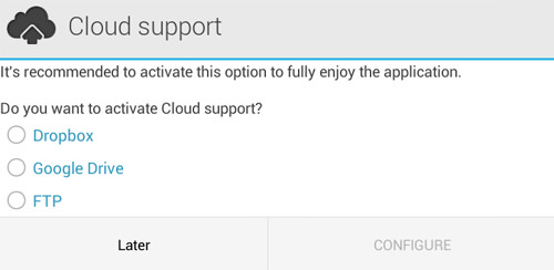 android full backup - configure cloud support