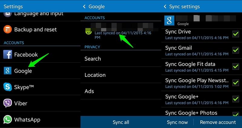 sync now