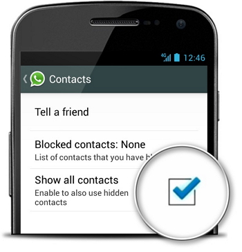 how to fix whatsapp not workiing on iphone-show all contacts