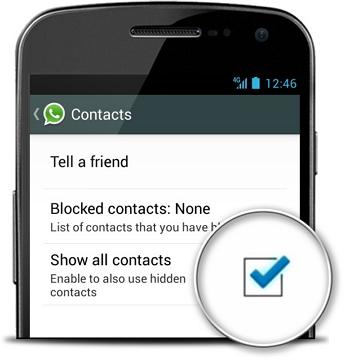 طريقة إصلاح عدم عمل WhatsApp على iPhone-إظهار جميع جهات الاتصال