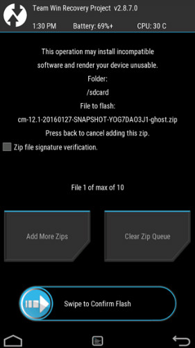 root lg g4 - confirm flash
